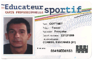 Carte professionnelle Pascal Cottinet