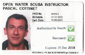 Instructeur Padi Pascal Cottinet